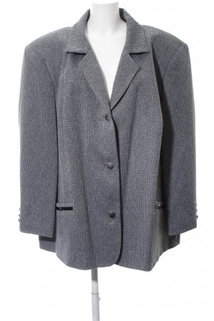 Meyer Mode Smoking-Blazer hellgrau Allover-Druck Business-Look