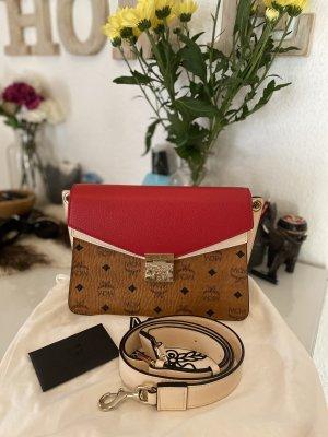 MCM Handbag cognac-coloured-red