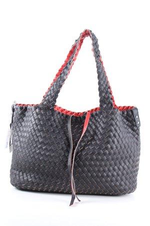MF Shopper zwart-rood casual uitstraling