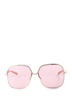 Mia Hoekige zonnebril roze casual uitstraling