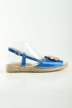 Mia & Jo Espadrilles-Sandalen blau-wollweiß Casual-Look