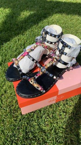 Mia & Jo Strapped Sandals black-silver-colored