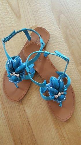 MIA JO Zehensandale Gr. 40 in sommerfrischem türkisblau