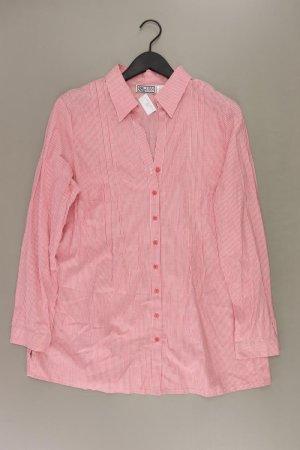 mia linea Bluse Größe 46 gestreift rot aus Baumwolle