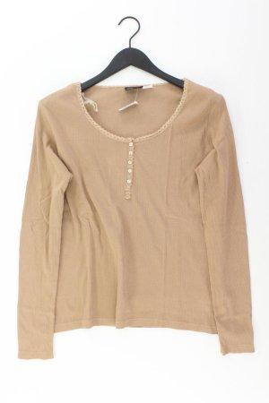 mia linea Longsleeve-Shirt Größe 40/42 Langarm braun aus Baumwolle