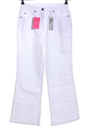 mia linea Straight-Leg Jeans weiß Casual-Look