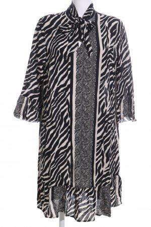 Mia Moda Blouse Dress black-white allover print business style