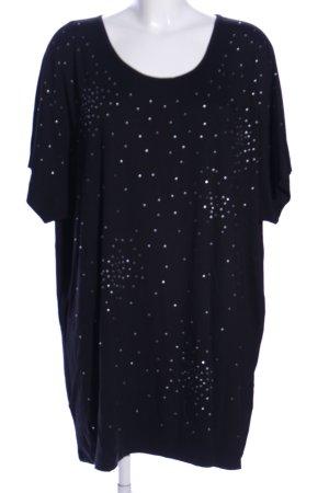 Mia Moda T-Shirt schwarz Punktemuster Casual-Look