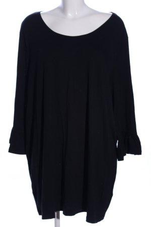 Mia Moda U-Boot-Shirt schwarz Casual-Look