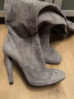Overknees light grey