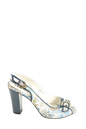 Mia Slingback-Pumps weiß-blau Motivdruck Business-Look