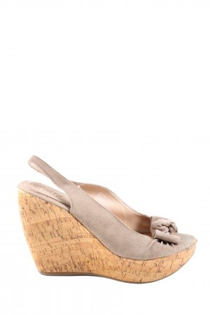 Mia Wedges Sandaletten braun Casual-Look
