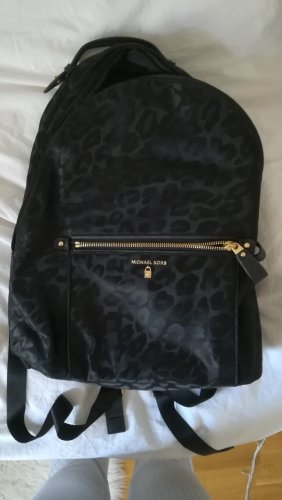 Michael Kors Laptop Backpack black-gold-colored