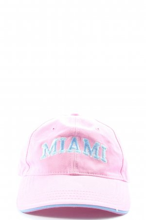 Miami Gorra de béisbol rosa-azul look casual