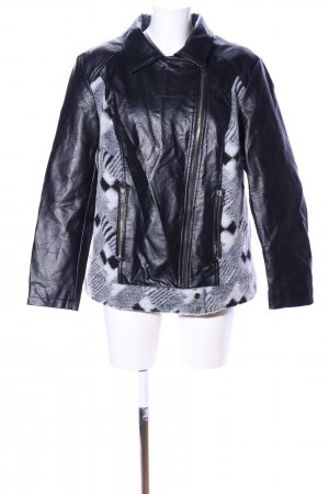 MiaModa Faux Leather Jacket mixed pattern casual look