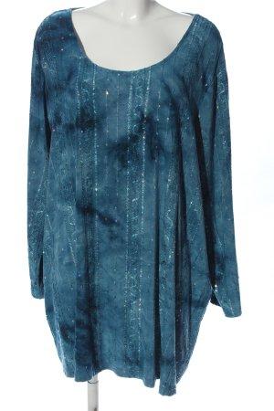 MiaModa Lange blouse blauw kleurverloop casual uitstraling