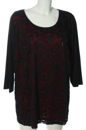 MiaModa Schlupf-Bluse rot-schwarz Casual-Look