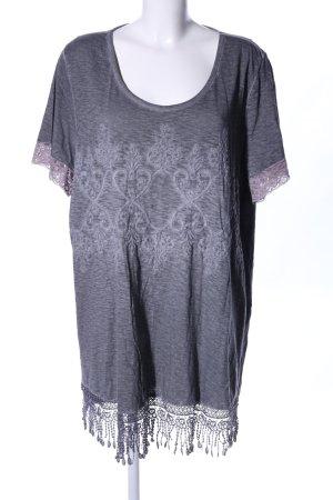 Mia Moda T-Shirt hellgrau meliert Casual-Look