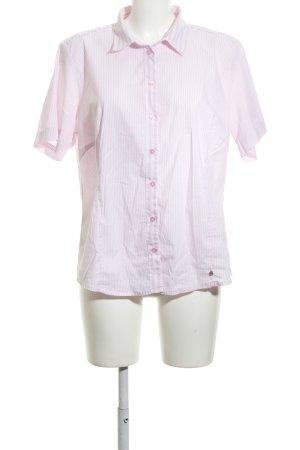Micha Blusa de manga corta blanco-rosa estampado a rayas look casual