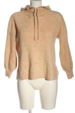 Micha Lounge Capuchon sweater nude kabel steek elegant