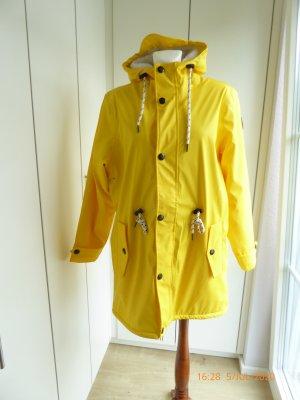 Michael Heinen Zware regenjas geel Polyurethaan
