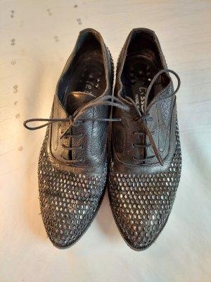 le tisse Budapest schoenen zwart-zilver