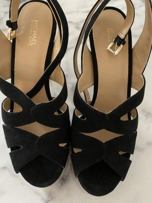 Michael Kors Strapped High-Heeled Sandals black-gold-colored