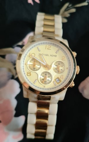 Michael Kors Watch With Metal Strap sand brown-oatmeal