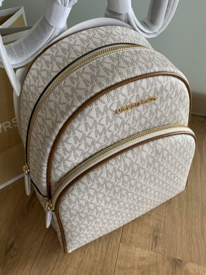 Michael Kors Abbey Backpack Vanilla Rucksack Neu beige braun Gold