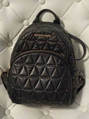 Michael Kors Trekking Backpack black-gold-colored leather