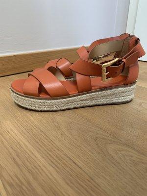 Michael Kors Sandales à lanière orange foncé-orange cuir
