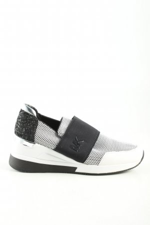 Michael Kors Absatz Sneaker schwarz-weiß Schriftzug gedruckt Casual-Look