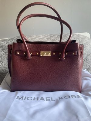 Michael Kors Addison Oxblood MK Bordeaux Gold Tasche