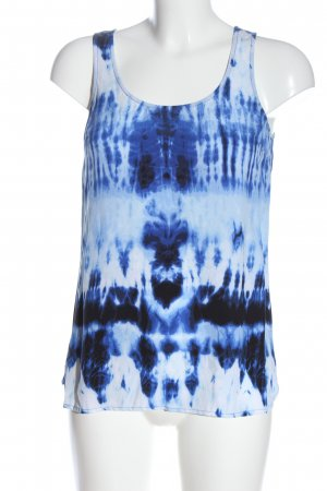 Michael Kors Blouse topje blauw-wit abstract patroon casual uitstraling