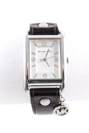 Michael Kors Analoog horloge zilver-bruin zakelijke stijl