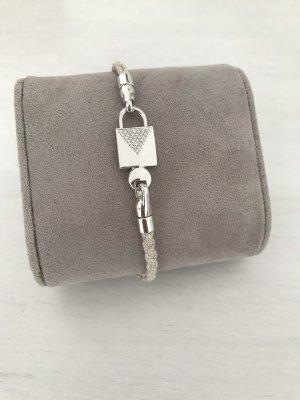 Michael Kors Braccialetto sottile argento-crema