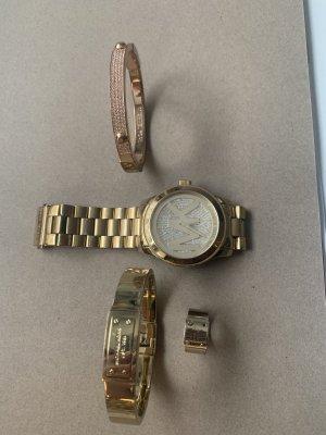 Michael Kors Armbanduhr + 2 Armreifen und Ring