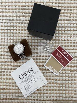 Michael Kors Horloge met metalen riempje wit-zilver