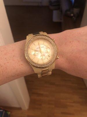 Michael Kors Zegarek z metalowym paskiem złoto-kremowy