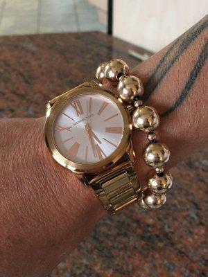 Michael Kors Armbanduhr in Roségold + das passende Magnet-Kugelarmband