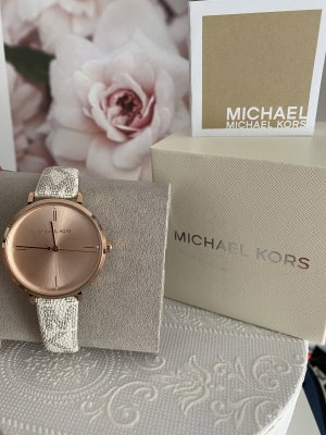 Michael Kors Montre analogue blanc-doré