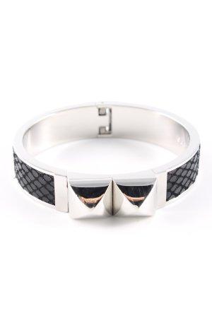Michael Kors Mouwband zwart-zilver casual uitstraling