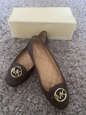 Michael Kors Slingback Ballerinas dark brown