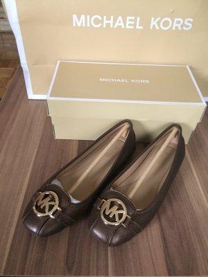Michael Kors Patent Leather Ballerinas bronze-colored