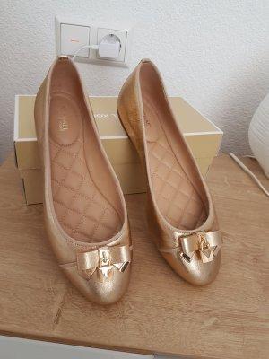 Michael Kors Ballerina Schuhe gold Leder Größe US 8 m EU 38,5 NEU