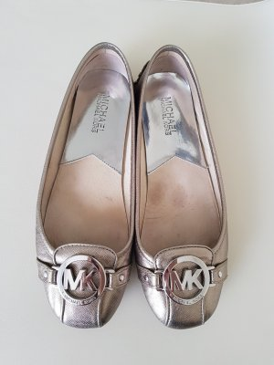 Michael Kors Peep Toe Ballerinas bronze-colored-gold-colored