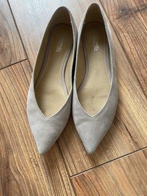 Michael Kors Ballerine en pointe argenté-gris clair