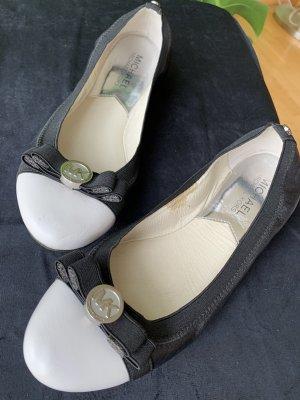 Michael Kors Ballerinas schwarz weiß
