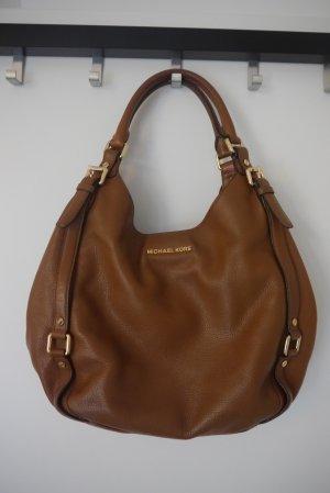 Michael Kors Shoulder Bag brown-cognac-coloured leather
