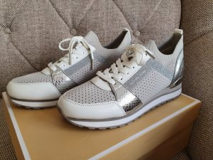 Michael Kors Billie knit Trailer gr. 37 sneaker schuhe Turnschuhe silber grau weiß